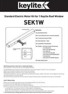 standard electric motor kit 1 window