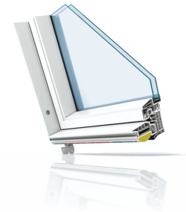 Polar PVC Cut Corner Roof Window